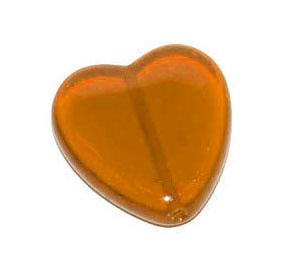 """Preciosa Бусины """"Оранжевое сердце"""" стекло"""