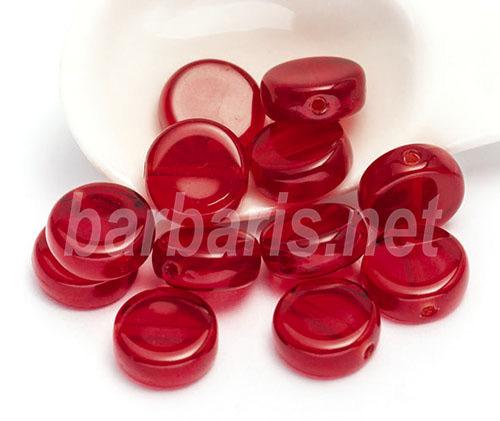 """Preciosa Бусины """"Красные таблетки"""" стекло (фото)"""