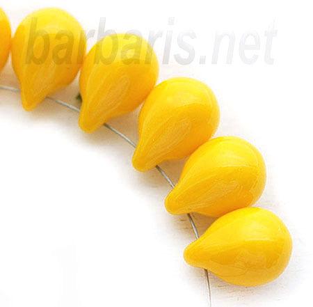 """Preciosa Бусины """"Желтые капли"""" стекло"""