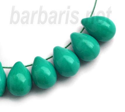 """Preciosa Бусины """"Зеленые капли"""" стекло"""