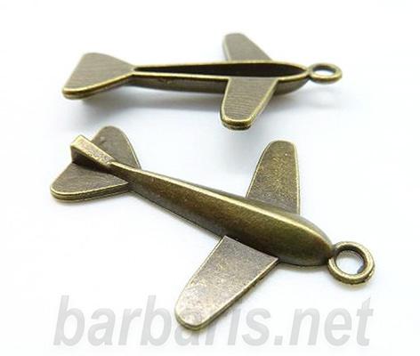 "Подвеска бронза ""Самолет"""
