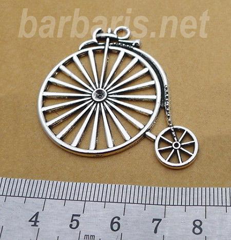 """Подвеска серебро """"Старинный велосипед"""" (фото)"""