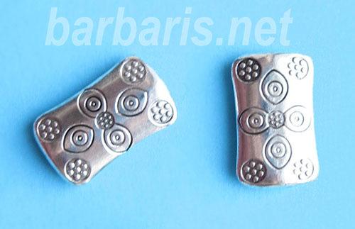 Бусина металл серебро (фото)