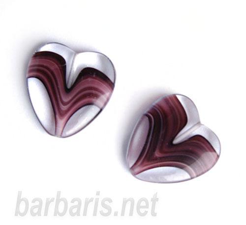 "Preciosa Бусины ""Сиреневое сердце"" стекло"