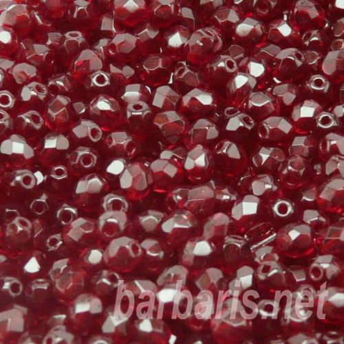 бусины красные 6 мм