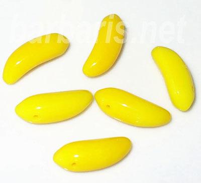 """Preciosa Бусины """"Желтый банан"""" стекло"""