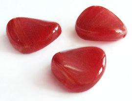 """Preciosa Бусины """"Красный лепесток"""" стекло"""