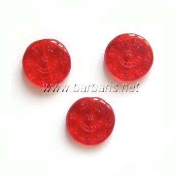"""Preciosa Бусины """"Красные монетки"""" стекло"""