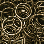 Кольцо для бус бронза микс