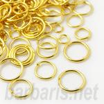 Кольцо для бус золото микс