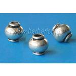 Бусина металл серебро