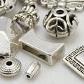 Бусины ассорти серебро