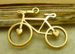 "Подвеска золото ""Велосипед"""