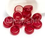 """Preciosa Бусины """"Красные таблетки"""" стекло"""