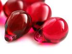 """Preciosa Бусины """"Красные капли"""" стекло"""