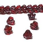 """Preciosa Бусины """"Красные цветы"""" стекло"""