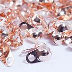 Зажим для узла (скуфейки) розовое золото