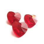 """Preciosa Граненные подвески """"Красное сердце"""" стекло"""