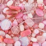 """Preciosa Набор бусин """"Розовый микс"""" стекло"""